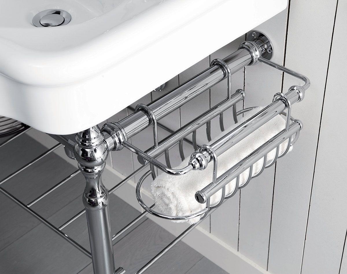 porte serviette de lavabo en laiton chromé by BLEU PROVENCE ...