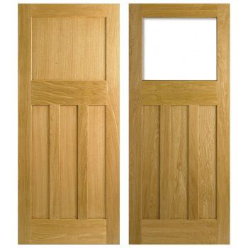 Nostalgia 1930s Style One Over Three Panel White Oak Interior Internal Door White Paneling Internal Doors Oak Interior Doors