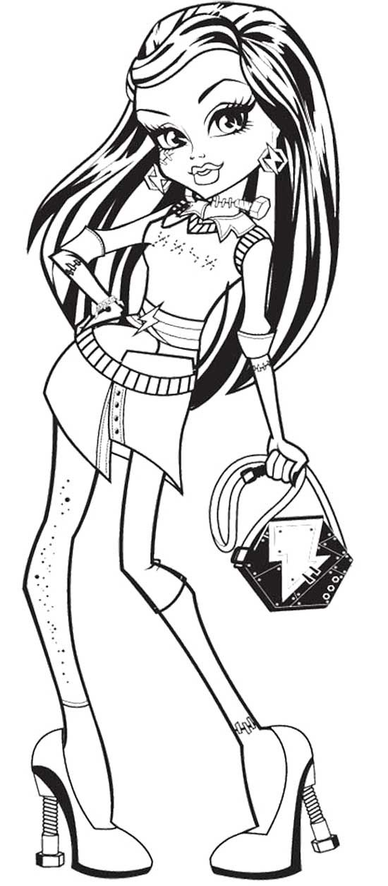 Monster High Frankie Stein Coloring Page | monster high | Pinterest ...