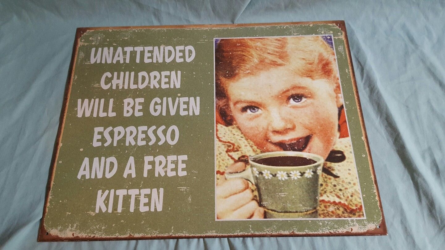 Funny sign distressed vintage retro wall art home kitchen decor new