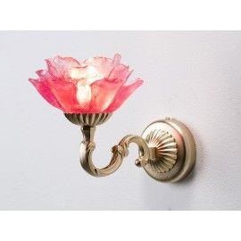 Tiger Lily Pink Wall Light