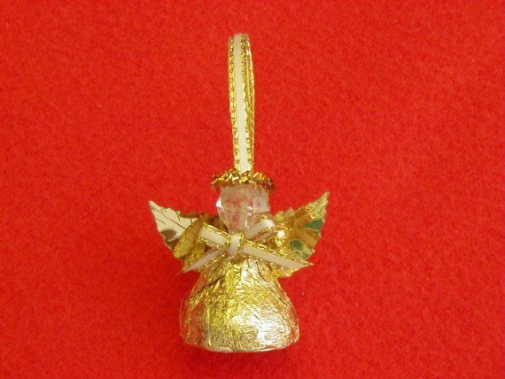 Handmade Hershey Kiss Angel  Set of 6 by SandycraftsOnline on Etsy, $9.00
