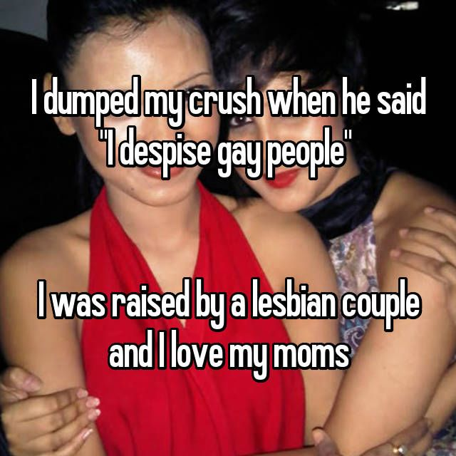 """Photo of """"I grew up with 2 lesbian moms and wouldn't change it for the world."""""""