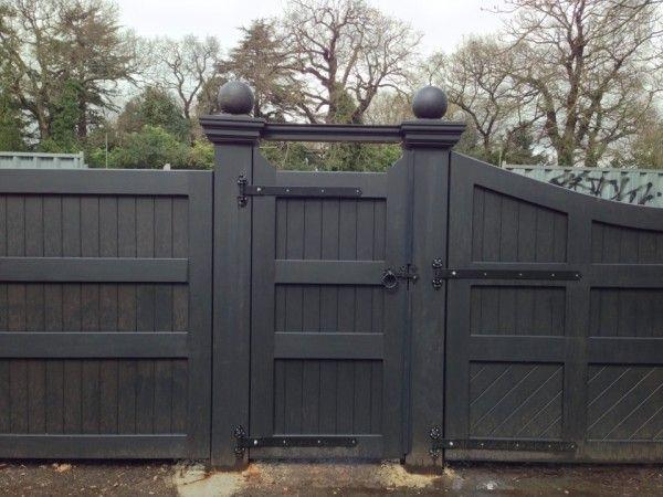 Black Wooden Gate At Totteridge London Farmhouse