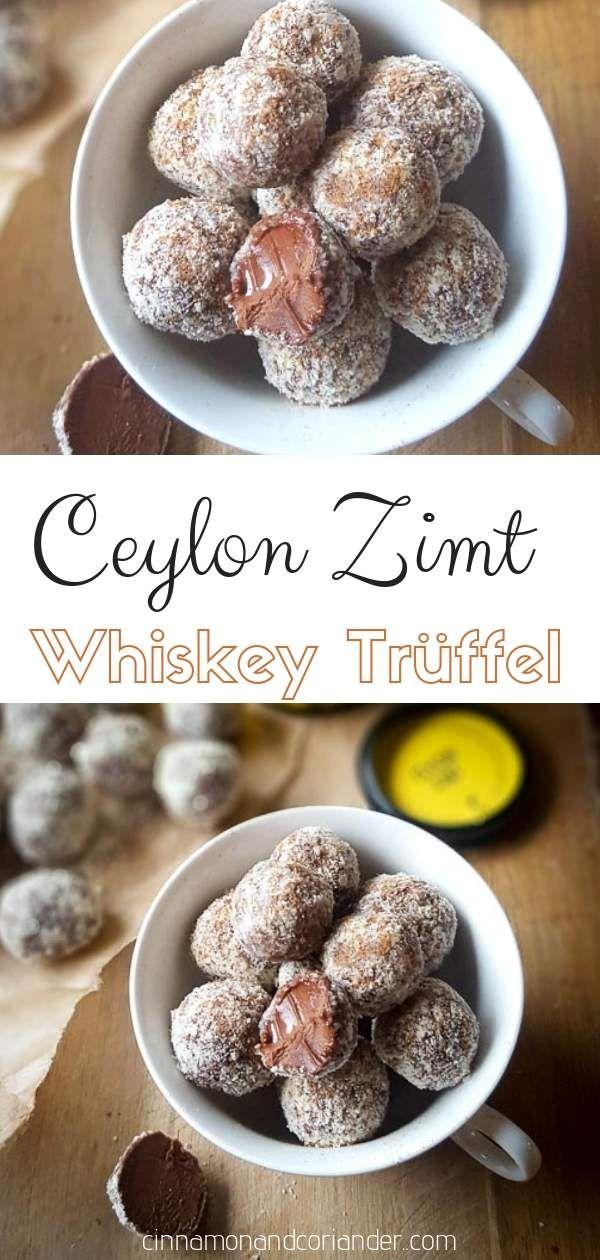 Schoko Whiskey Trüffel Pralinen mit Zimt - einfach selbstgemacht