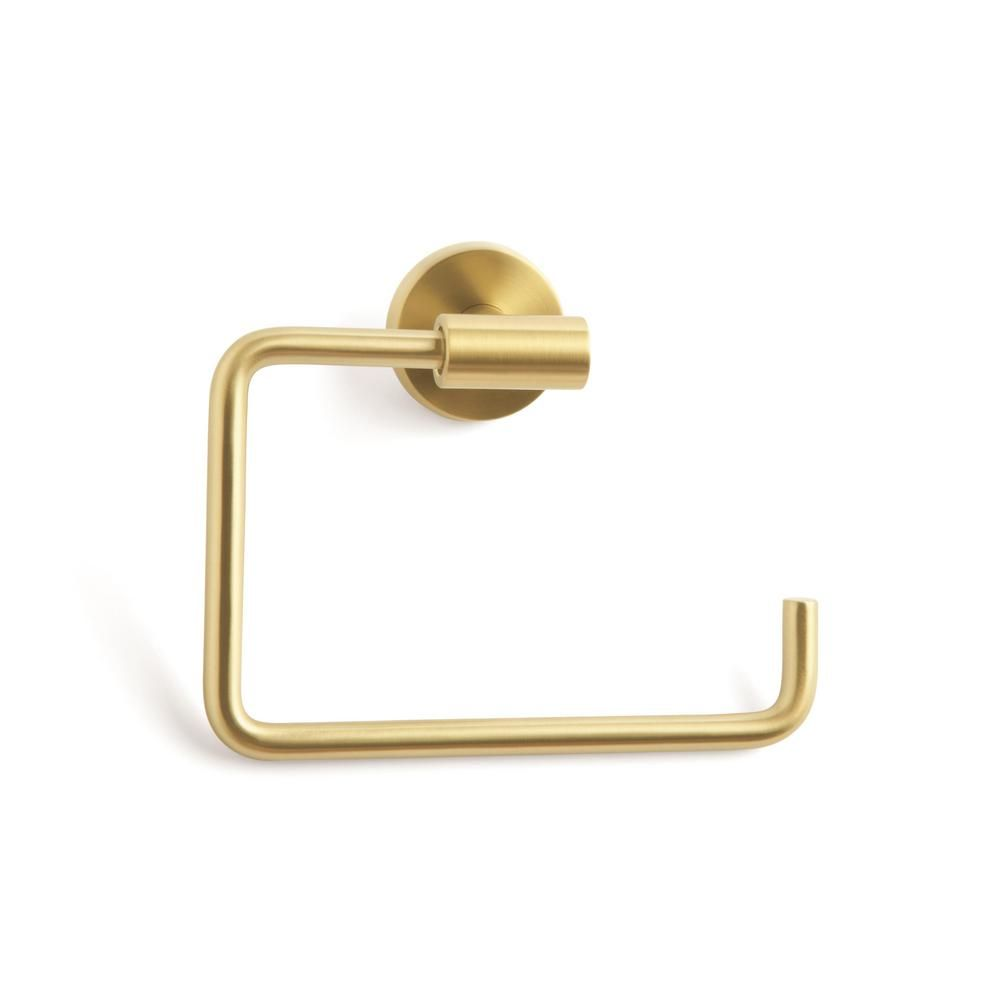 Amerock Arrondi Towel Ring In Brushed Bronze Golden Champagne Bh26541bbz Towel Rings Bathroom Hardware Wall Mount
