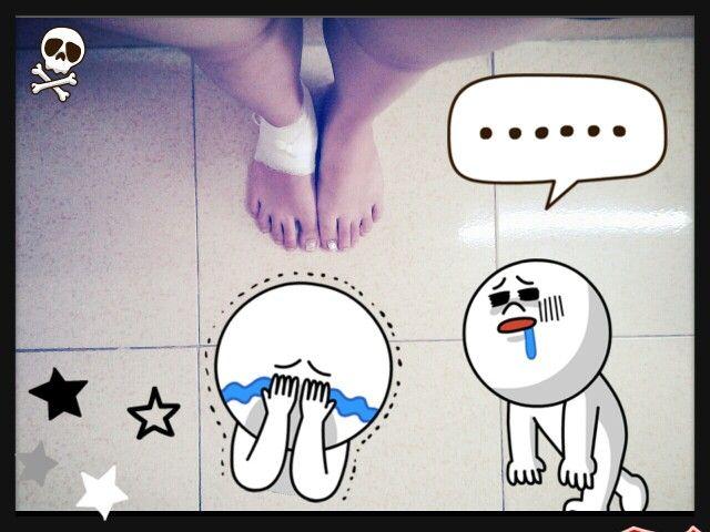 my ankle, so sad