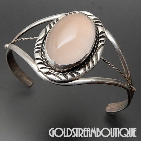 Native American Vintage Grace Smith Navajo Sterling Silver Oval Pink Q – Gold Stream Boutique