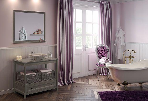 Collin Arredo - meuble de salle de bain en bois - Bohême L100 bois