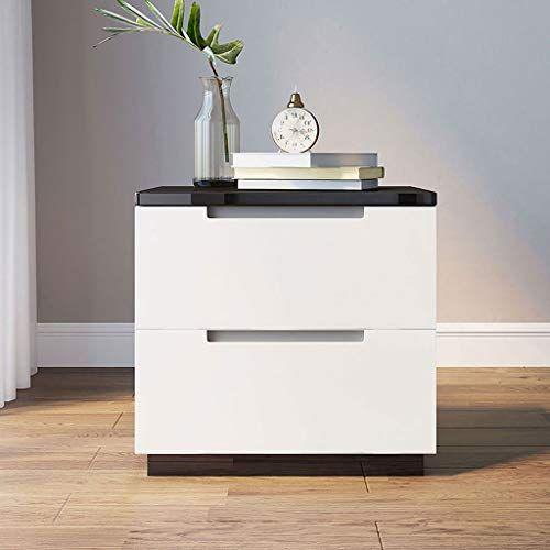 Best Lrzs Simple Modern White Bedside Table Bedroom Bedside 640 x 480