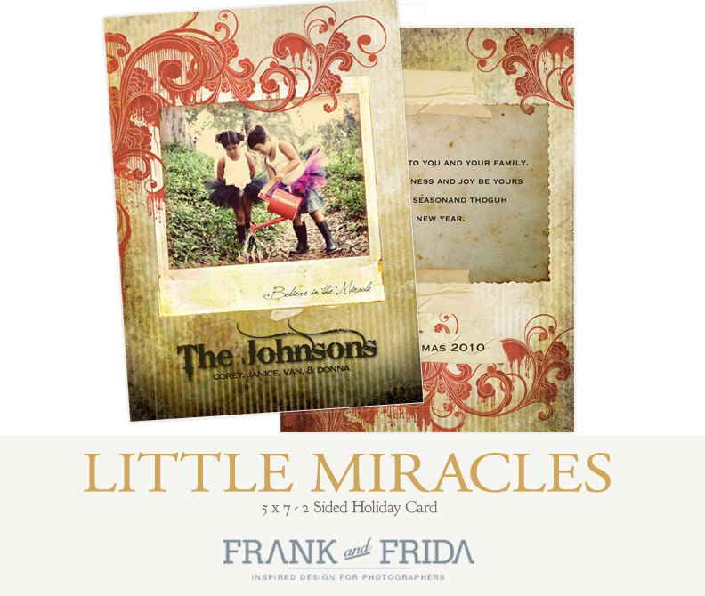 Miracles 5x7 Holiday Card. $11.00, via Etsy. | Holiday ...