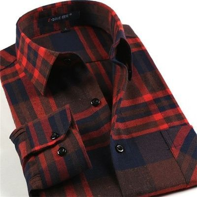 British Style Male Clothing Casual Long Sleeve