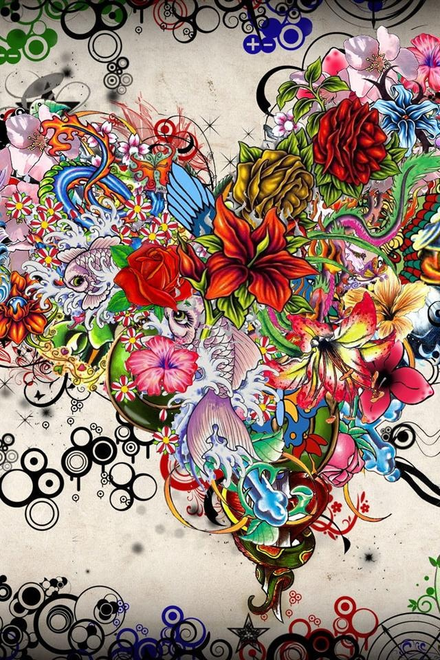 iPhone 4/4S Wallpaper Heart art, Diamond painting, Love
