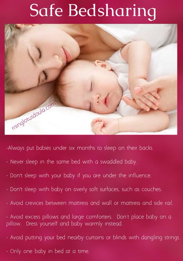 Basic safe bedsharing co sleeping guidelines for babies rising basic safe bedsharing co sleeping guidelines for babies ccuart Images