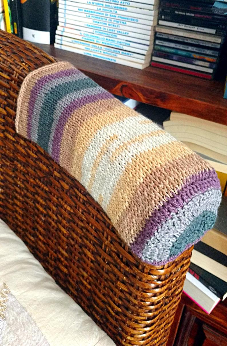 CUSTOM Sofa Arm Covers. Crochet Chair Recliner Cap for ...