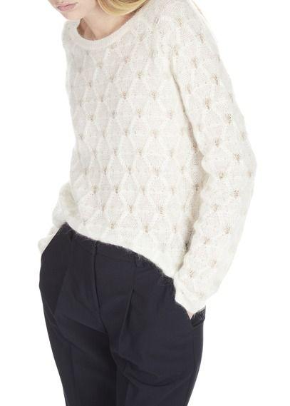 Blanc Laine Et Cotonniers En Lurex Nouvelle Des Comptoir Pull Collection Col Femme Mohair Rond Eboutique xXXz1SwT