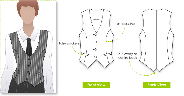 Chelsea Vest | Vest pattern, Sew pattern and Patterns