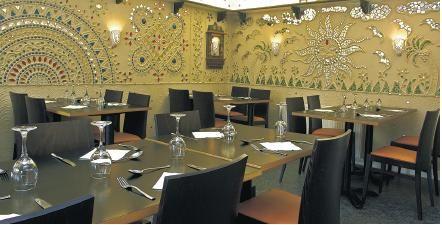 Kalpna Indian vegetarian restaurant. Amazing decorations on the ...