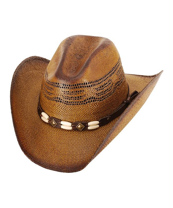 Look at this Western Express Brown Brockway Straw Cowboy Hat on #zulily today!