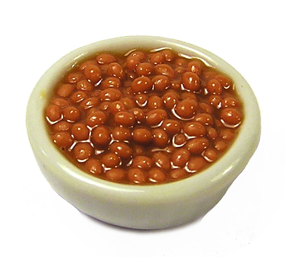 Dollhouse Miniatures  Size Brown Beans Candy Box