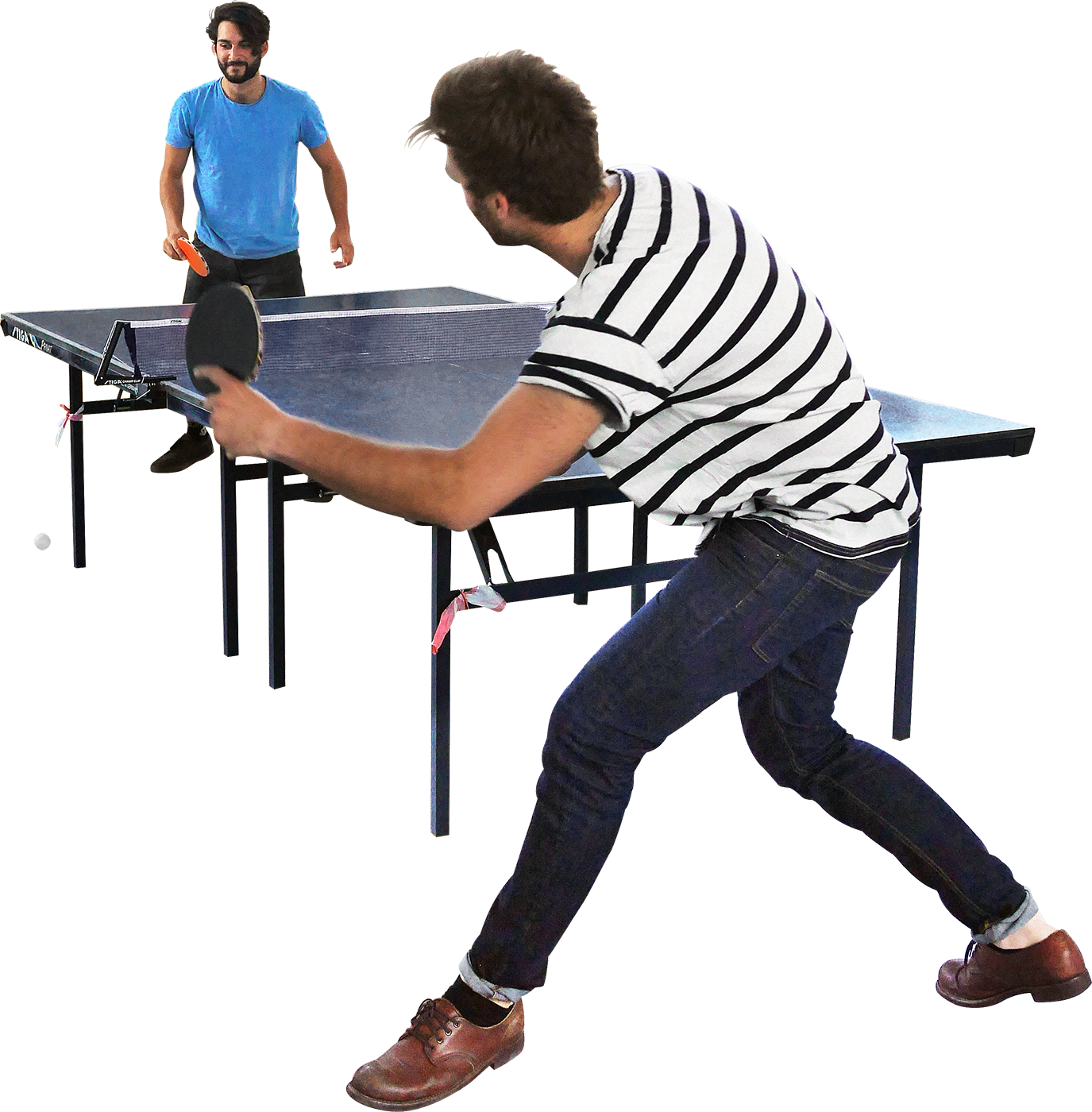 287 L and G shredding it in table tennis! One point to G ... for People Sitting At Table Png  113cpg