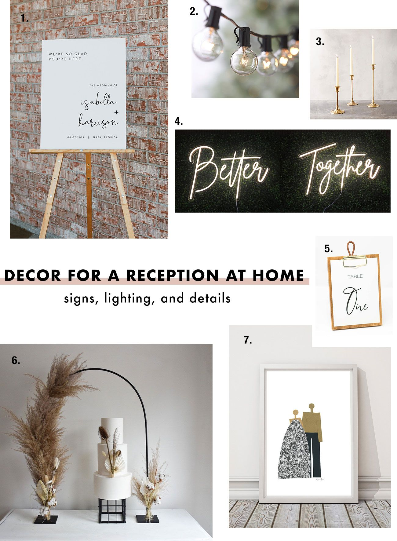 How to Decorate for a Small Wedding at Home Green