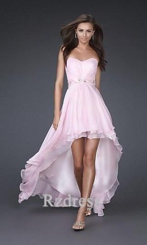 Prom Dresses@Sleeveless Sweetheart Dress A-Line Chiffon Dress