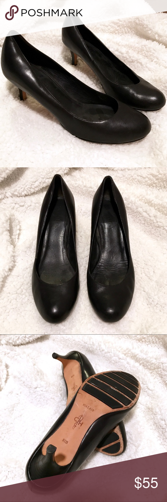promo code cba32 dfe44 Cole Haan Nike Air black heels SIZE 8.5 Classic matte black leather pumps  from the Nike