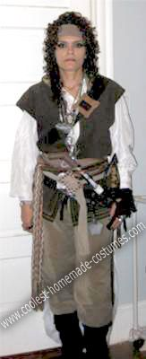Homemade Female Pirate Costume My homemade Female Pirate costume is directly based on the Jack Sparrow character from Pirates of the Caribbean.  sc 1 st  Pinterest & Coolest Homemade Female Pirate Costume | Female pirate costume ...