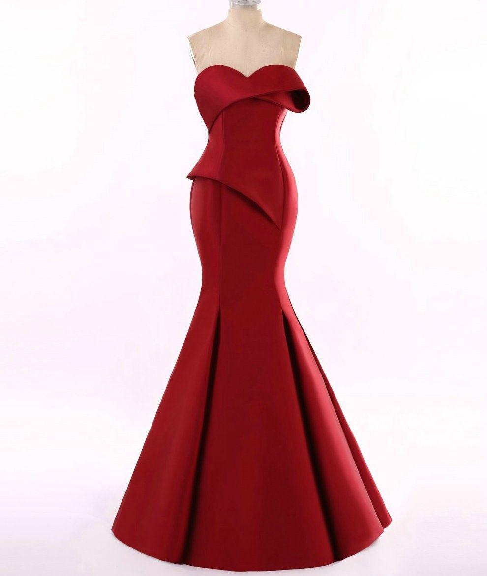 Red haute couture evening gowns from texas designer darius