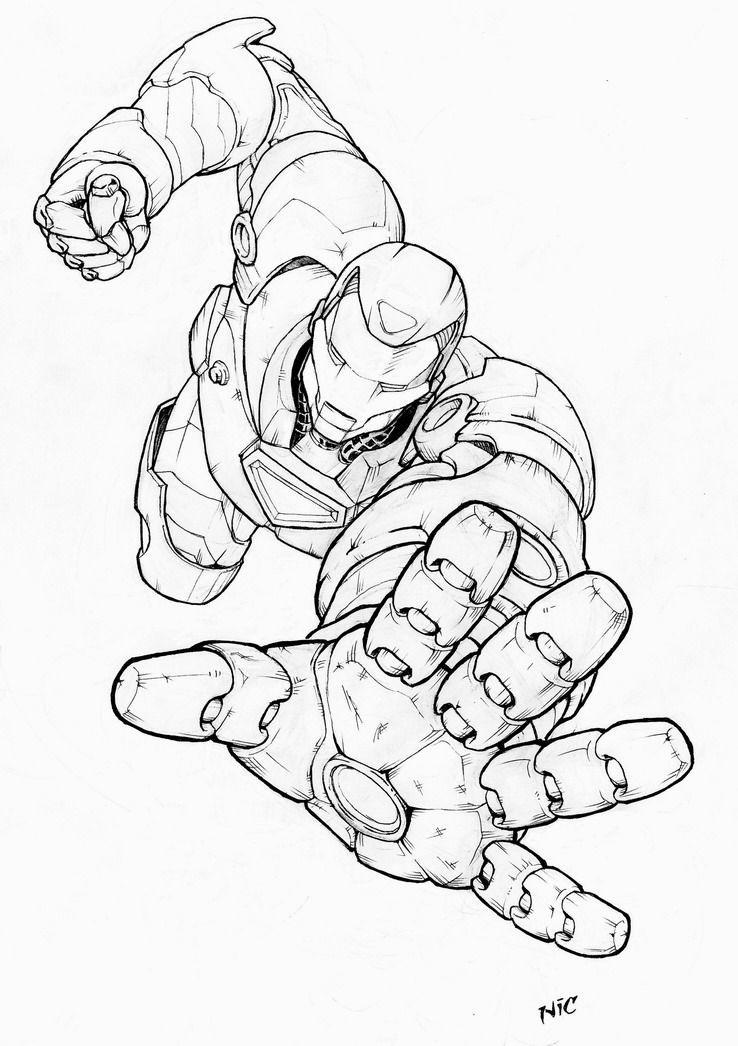 Ironman By Nicojeremia75 Marvel Coloring Avengers Coloring Pages Superhero Coloring Pages