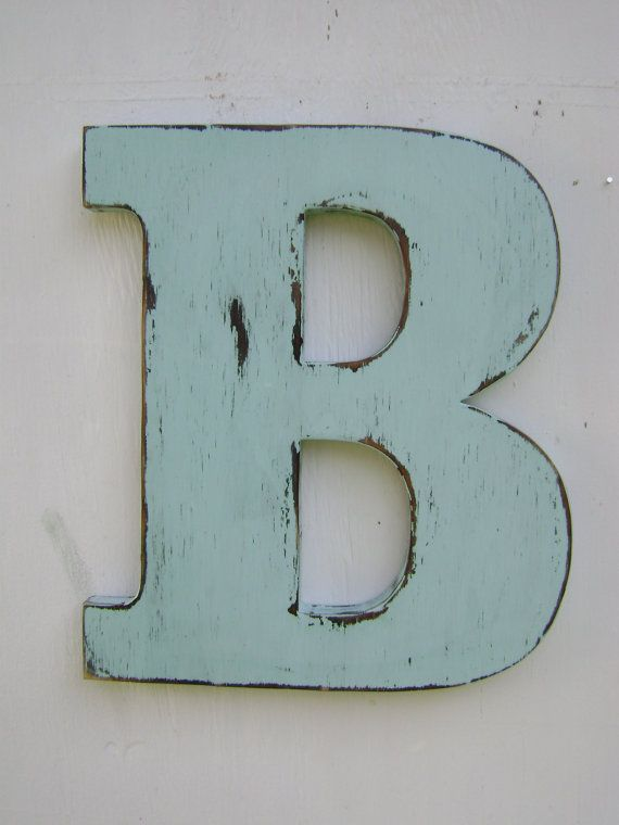Rustic Wood Wedding Decor Letter B Distressed Spa Blu Alphabet Letters 12 Tall Name Custom Gift On Etsy 33 00