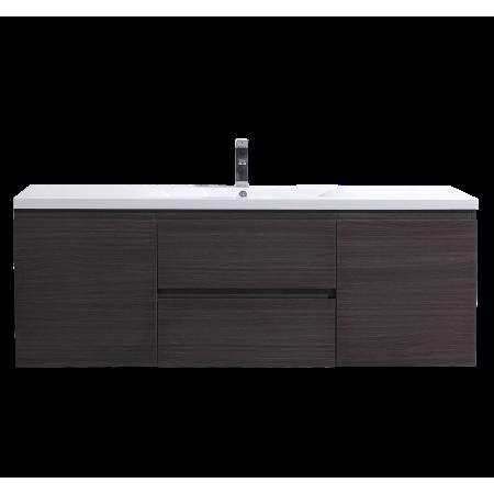 Mob 60 Inch Single Sink Black Grey Oak Wall Mounted Modern