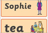 'The Tiger Who Came To Tea' Flashcards