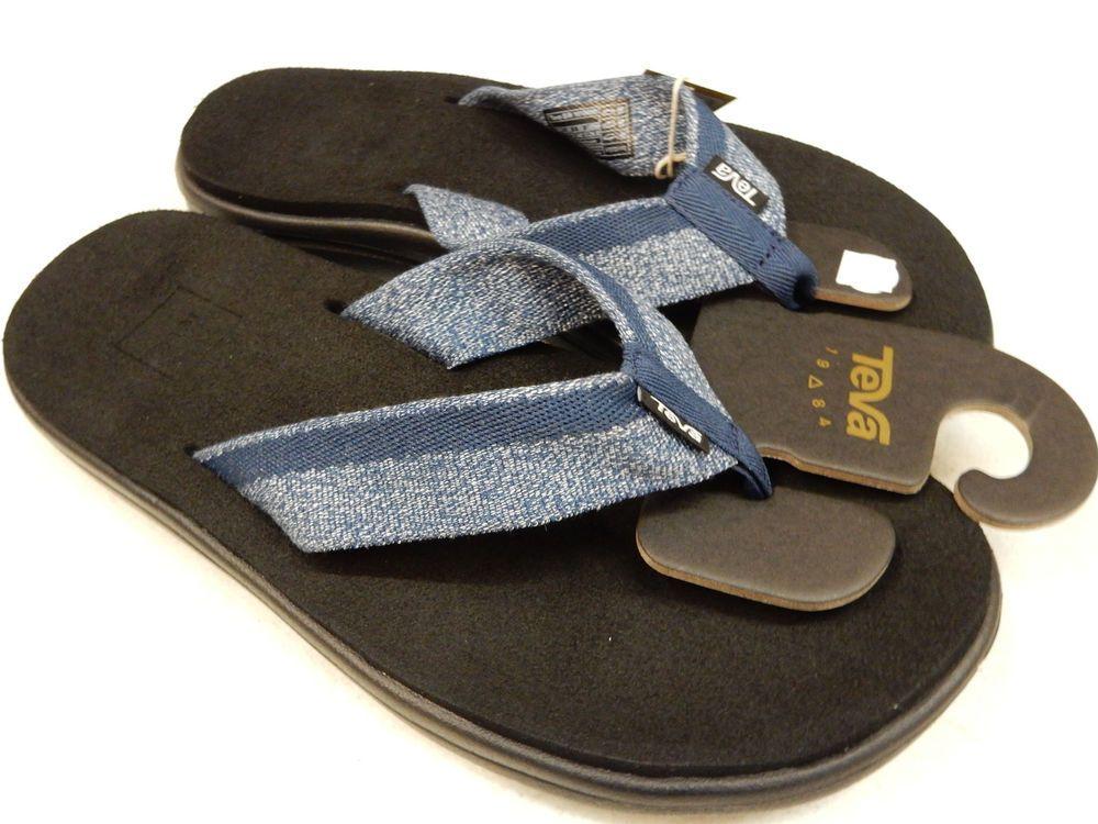5df63ef4a817f TEVA MENS SANDALS VOYA FLIP ZOOK NAVY 12  fashion  clothing  shoes   accessories