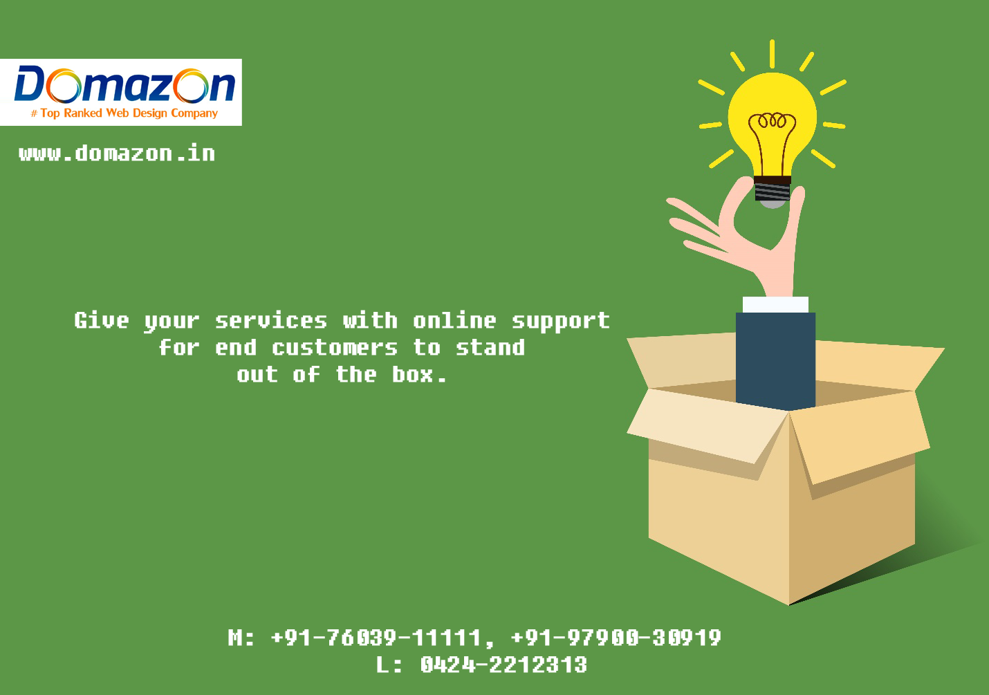 Domazon India's Top Ranked Web Design Company in Erode