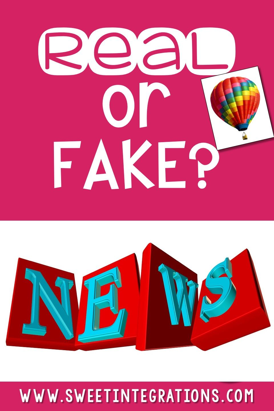 Help upper elementary, middle school, & high school students with media literacy by teaching them to distinguish between real and fake news. Learn why what students research and read needs to be up-to-date. Watch videos learning more about legitimate websites, and find out what to look for to spot great information. Tips and tricks are included in this blog post. {3rd, 4th, 5th, 6th, 7th, 8th, 9th, 10th, 11th, and 12th grade classroom or homeschool students, reading, writing, research, PBL}