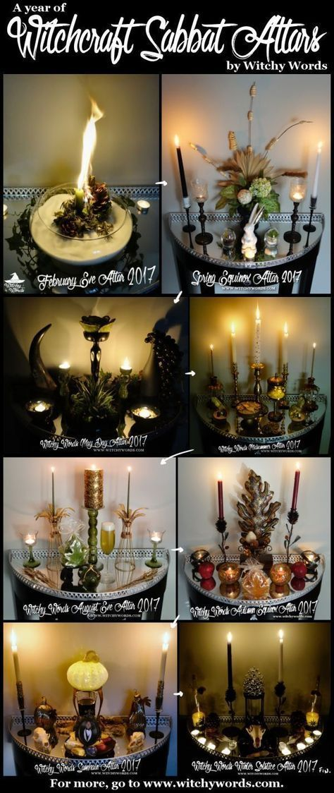 A Year of Witchcraft Sabbat Altars 2017 Edition PLUS Comparison to 2012-13!