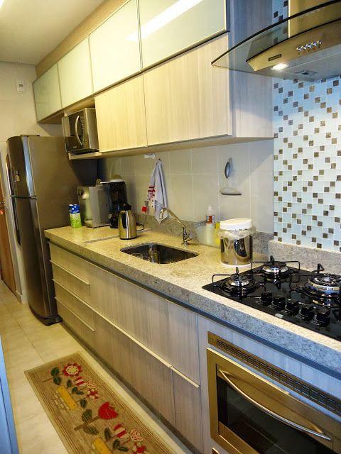 Cozinha Com Bancada Clara Granito Branco Siena E Pastilha Na