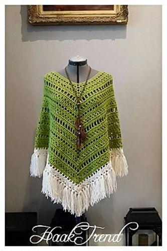 Crochet Boho Poncho with FREE Pattern