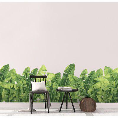 Banana Leaves Wall Decal Hojas De Banano Murales
