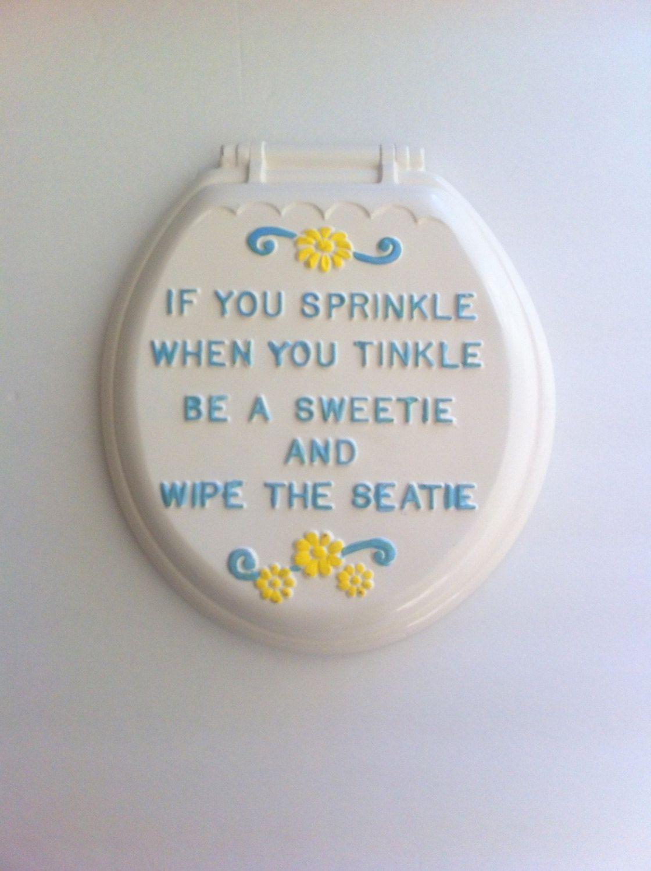 Kitsch Vintage Chalkware Wall Hanging Toilet Seat Humorous