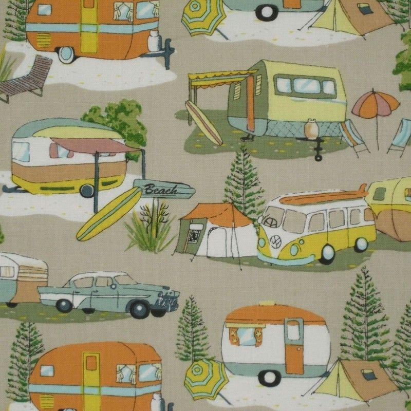 Retro Holidays | Retro caravan, Quilt fabric, Fabric
