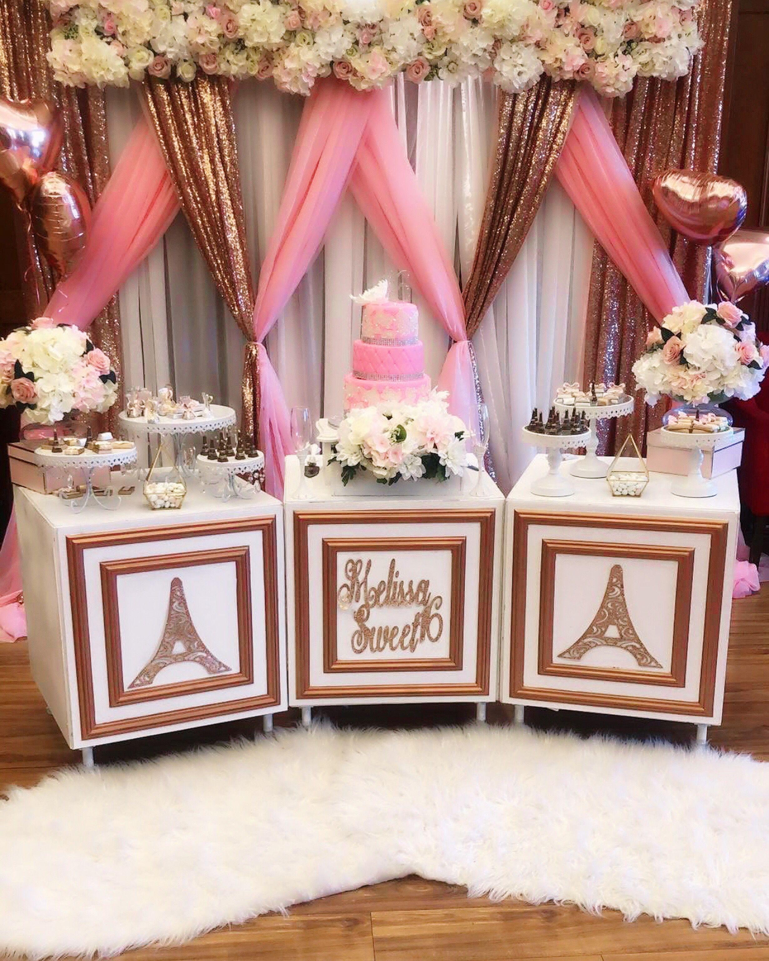 Sweet 16 Paris Sweet 16 Sweet 16 Decorations Pink Sweet 16