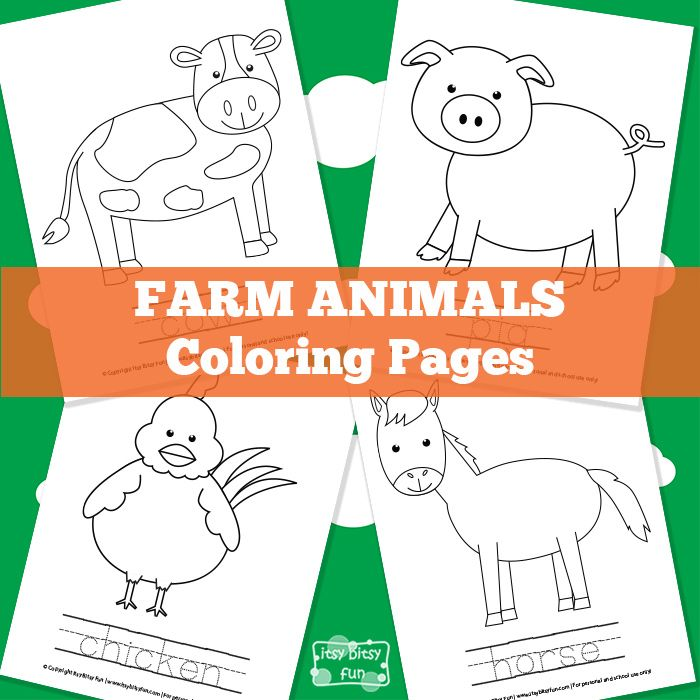 Animal Colouring Pages Sparklebox : Farm animal coloring pages best farming and ideas