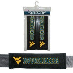 West Virginia Mountaineers Velour Seat Belt Pads