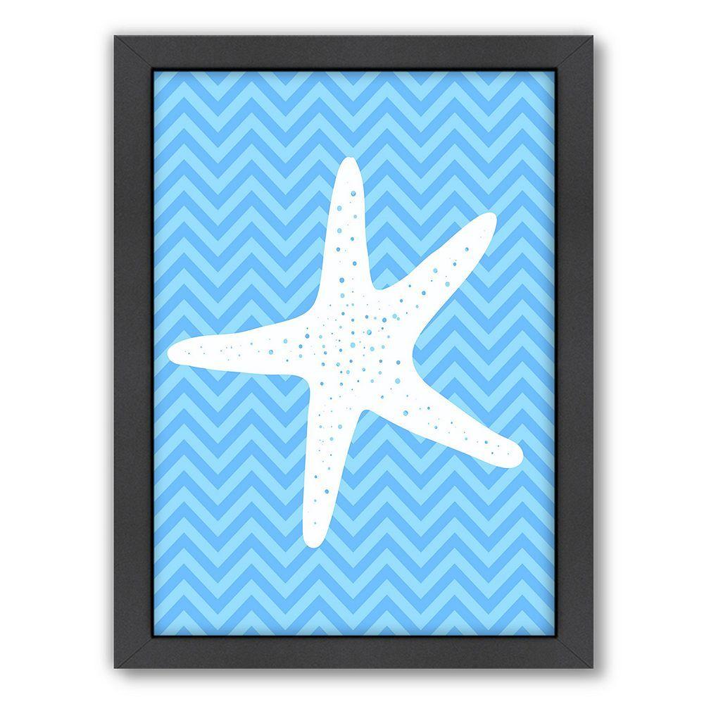 Americanflat sea chevron starfish framed wall art framed wall art