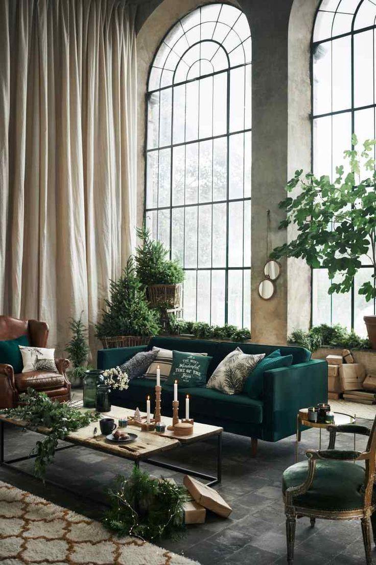 Linen-blend cushion cover #allwhiteroom
