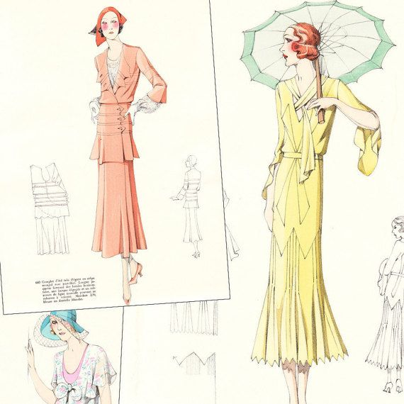PDF of 30s haute couture sewing pattern catalog - \