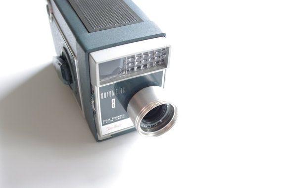 Kodak Automatic 8 Camera  8mm Movie Camera by ThisCharmingManCave, $35.00